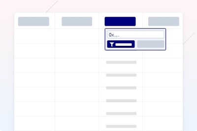 From and To Filters in Address Page